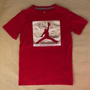 Boys' Jordan Red T-Shirt Size L